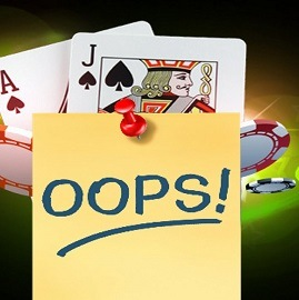 mistakes at live casino